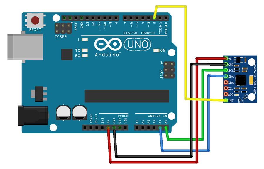 Esquema MPU6050 com Arduino UNO